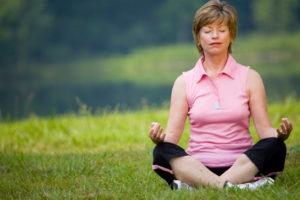 meditate in grass